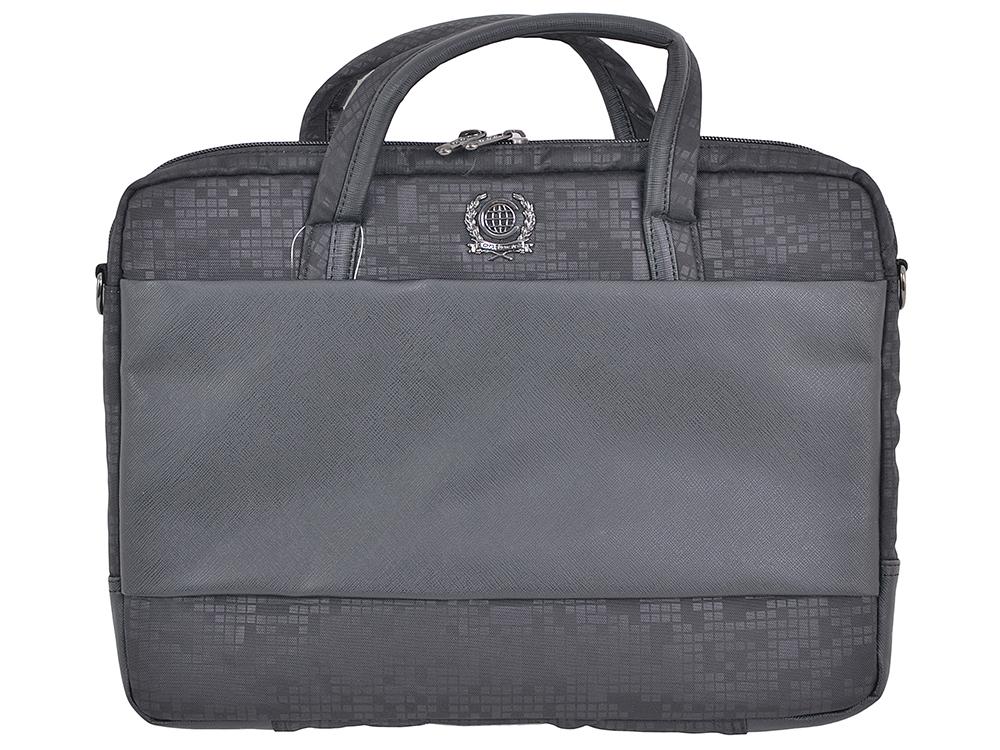 Сумка для ноутбука Continent CC-037 до 15,6-16 (полиэстр/эко кожа, Black, 38 x 28.5 x 4,2 см.)