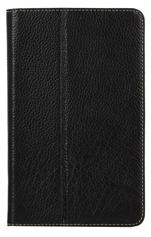 Чехол Jet.A SC7-3 для планшета Samsung Galaxy Tab3 7 из натуральной кожи, Черный/Зеленый интерьер купить чехол для samsung galaxy tab 7 0 plus