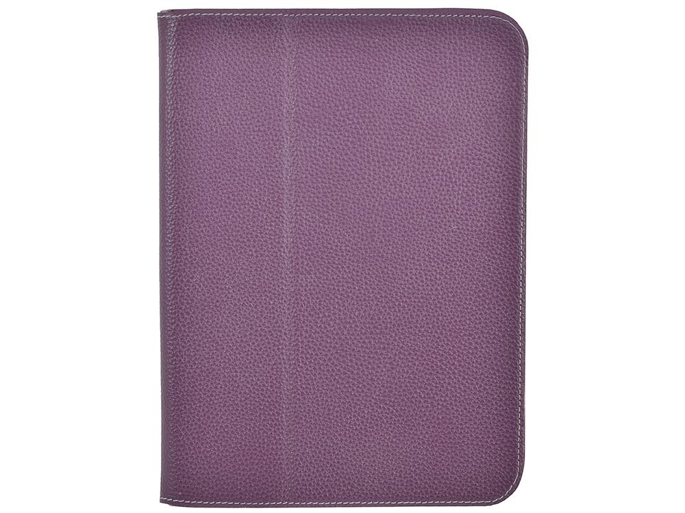 Чехол Jet.A SC10-26 для планшета Samsung Galaxy Tab4 10.1 из натуральной кожи, Фиолетовый/Серый интерьер
