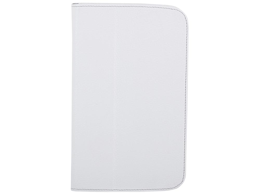 Чехол Jet.A SC7-26 для планшета Samsung Galaxy Tab4 7 из натуральной кожи, Белый/Серый интерьер купить чехол для samsung galaxy tab 7 0 plus