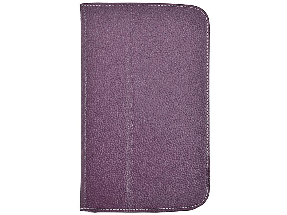 Чехол Jet.A SC7-26 для планшета Samsung Galaxy Tab4 7 из натуральной кожи, Фиолетовый/Серый интерьер купить чехол для samsung galaxy tab 7 0 plus