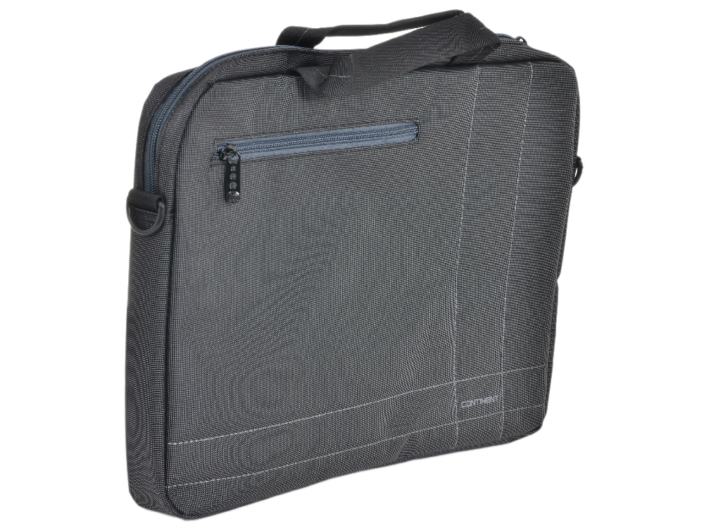 Сумка для ноутбука Continent CC-201GA до 15,6 (серый с серой отделкой, нейлон/полиэстер, 40 x 30 x 5 см.)