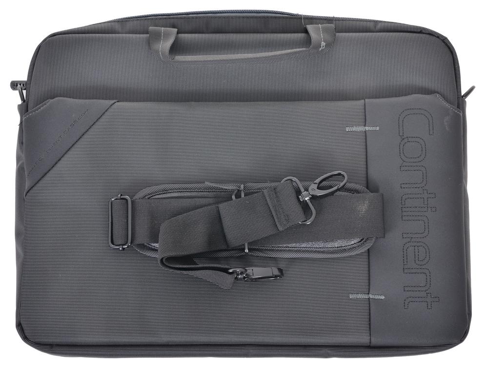 Сумка для ноутбука Continent CC-205GA до 15,6 (серый с серой отделкой, нейлон/полиэстер, 40 x 30 x 6 см.)