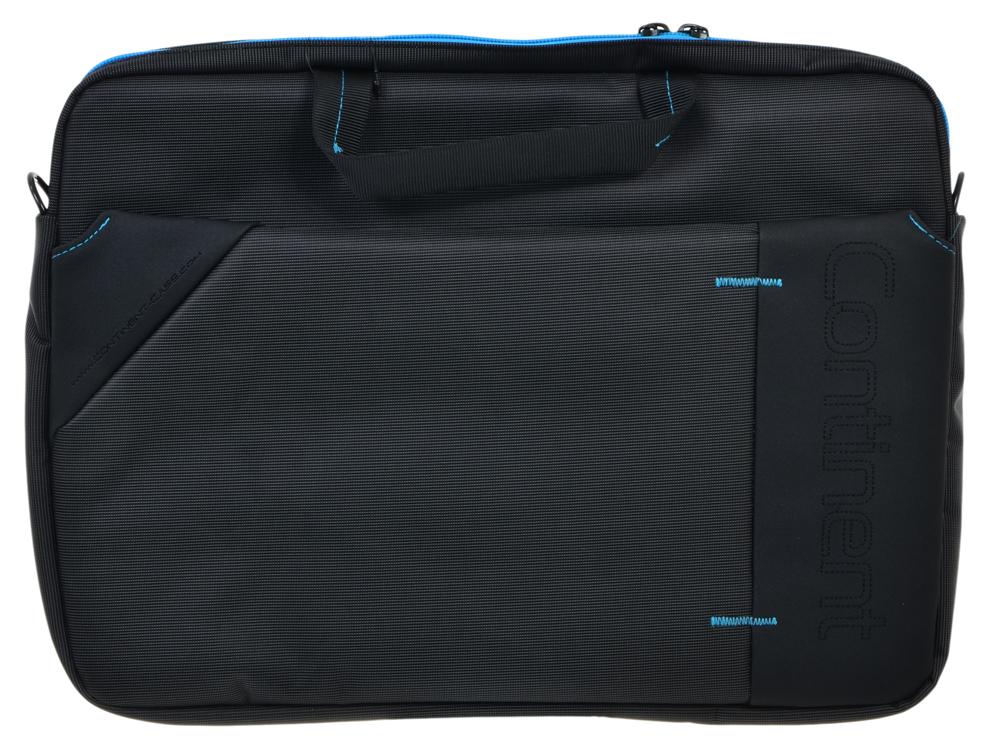 Сумка для ноутбука Continent CC-205GB до 15,6 (серый с синей отделкой, нейлон/полиэстер, 40 x 30 x 6 см.)