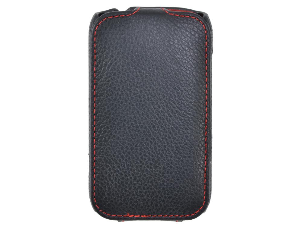 Чехол - книжка iRidium для HTC Desire С (черный), натуральная кожа
