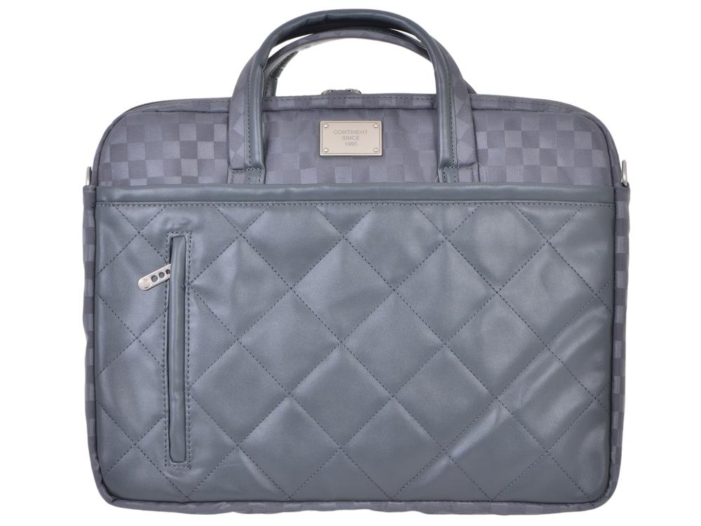 Сумка для ноутбука Continent CC-036 Grey до 15,6-16 (серый, полиэстр/эко кожа, 40 x 30 x 4,5 см.)