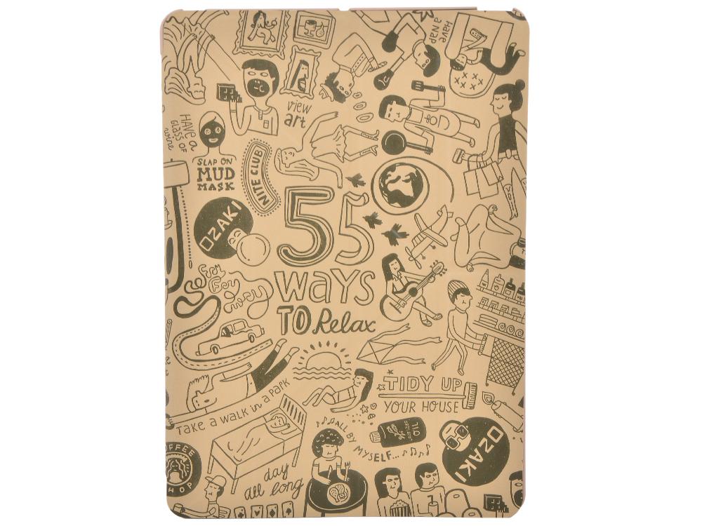 Чехол-книжка Ozaki OC113KH O!coat Relax для iPad Air. Цвет:хаки.