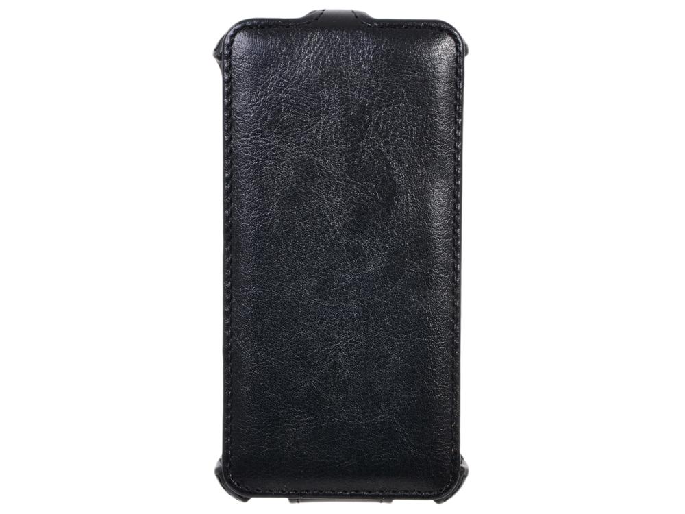 Чехол Флип-кейс для смартфона Explay Flame HOT, кожа, черный чехол flip case для explay hd quad черный
