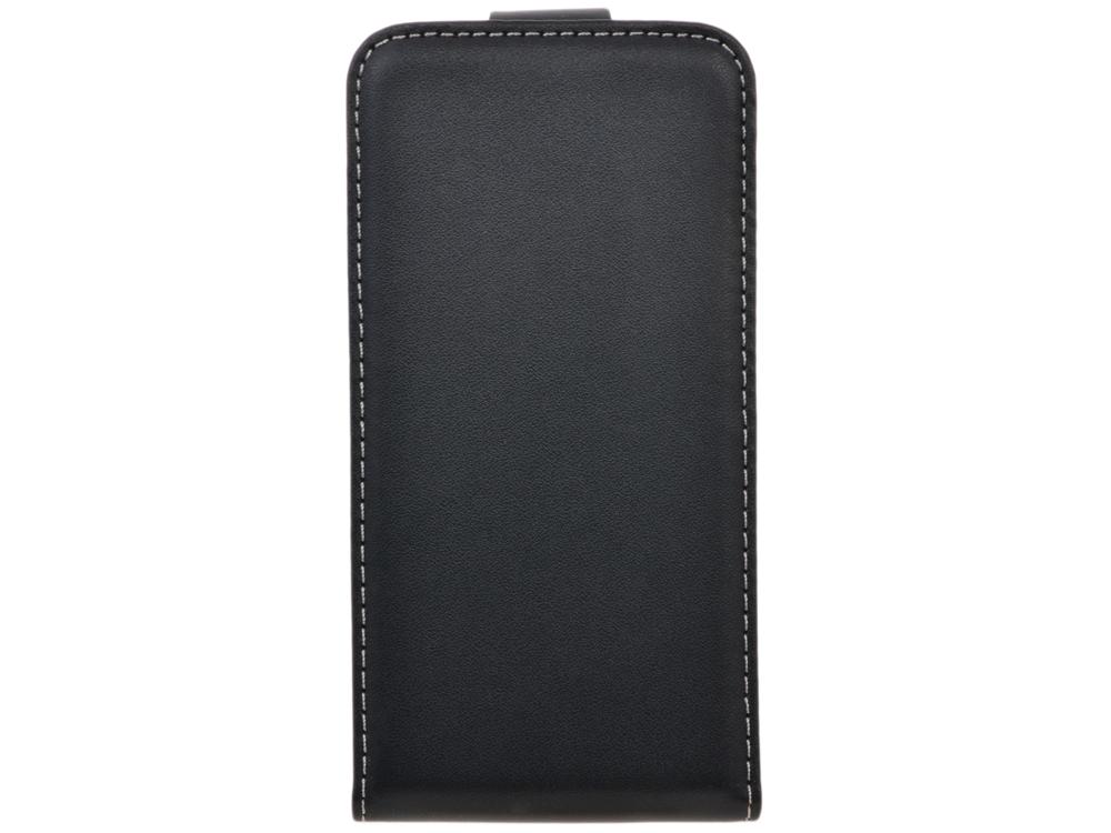 Чехол Флип-кейс для смартфона Explay Hit, кожа, чёрный чехол флип кейс explay для explay craft черный