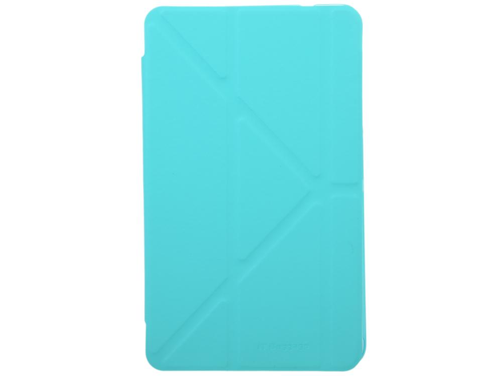 Чехол IT BAGGAGE для планшета SAMSUNG Galaxy Tab4 8 hard case искус. кож�� бирюзовый с тонированной задней стенкой ITSSGT4801-6 it baggage чехол для samsung galaxy tab e 8 black
