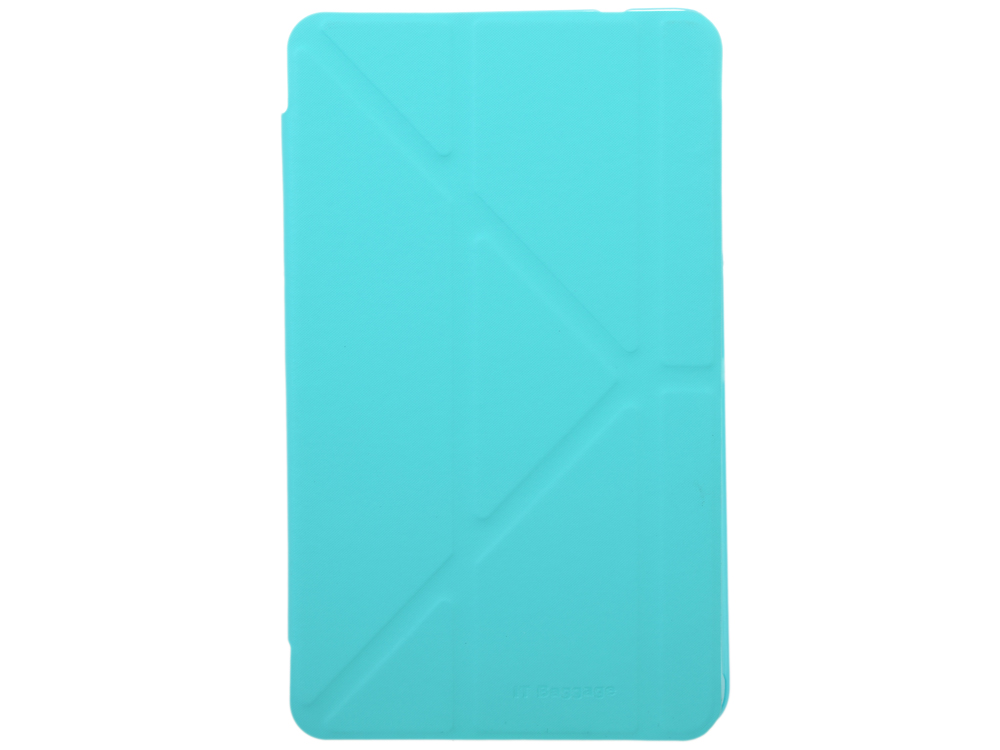 Чехол IT BAGGAGE для планшета SAMSUNG Galaxy Tab4 8 hard case искус. кожа бирюзовый с тонированной задней стенкой ITSSGT4801-6 it baggage hard case чехол для samsung galaxy tab a 8 0 sm t350n sm t355n black