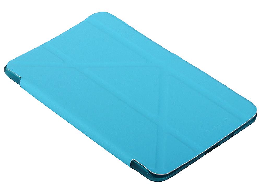 Чехол IT BAGGAGE для планшета SAMSUNG Galaxy Tab4 7 hard case искус. кожа синий с тонированной задней стенкой ITSSGT4701-4 чехол it baggage для планшета samsung galaxy tab4 8 hard case искус кожа бирюзовый с тонированной задней стенкой itssgt4801 6