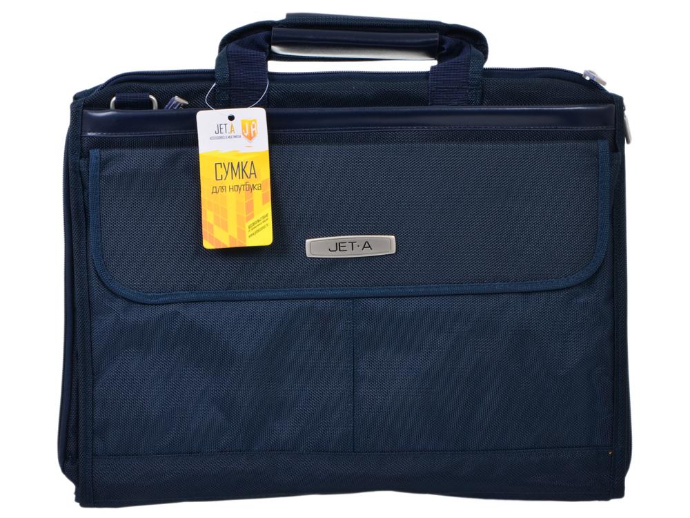 """Сумка для ноутбука Jet.A LB15-51 до 15,6"""" (Темно-синий , качественный полиэстер, современный дизайн, премиум сегмент SIZE 410*90*310мм)"""