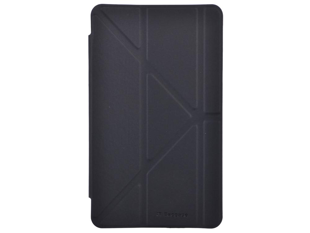 Чехол IT BAGGAGE для планшета SAMSUNG Galaxy Tab4 8 hard case искус. кожа черный с прозрачной задней стенкой ITSSGT4801-1 чехол it baggage для планшета samsung galaxy tab4 10 1 hard case искус кожа бирюзовый с тонированной задней стенкой itssgt4101 6