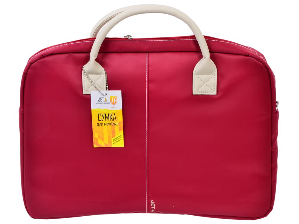 Сумка для ноутбука Jet.A LB15-72 до 15,6 (Красный, ЖЕНСКАЯ, материал-нейлон, LUXURY дизайн, съемный ремень, SIZE 400*70*320мм)