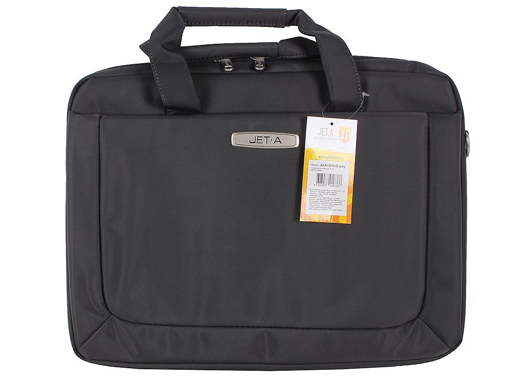 """Сумка для ноутбука Jet.A LB15-62 до 15,6"""" (Серый , качественный нейлон/полиэстер, современный дизайн, SIZE 415*60*310мм)"""