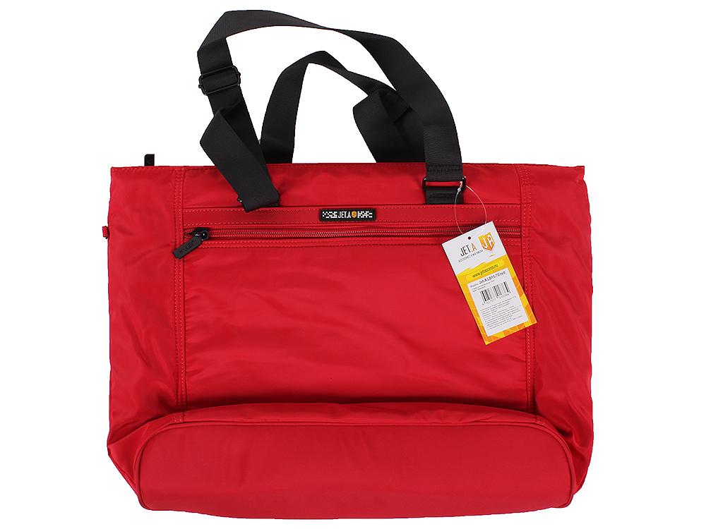 цена на Сумка для ноутбука женская Jet.A LB15-70 до 15,6 (Красный , качественный нейлон/полиэстер, современный дизайн, SIZE 390*80*330мм)