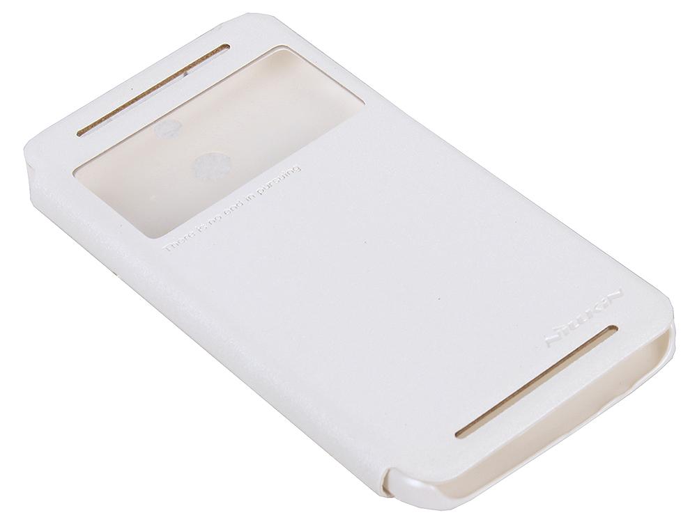 Чехол для смартфона HTC One (E8) Nillkin Sparkle Leather Case Белый