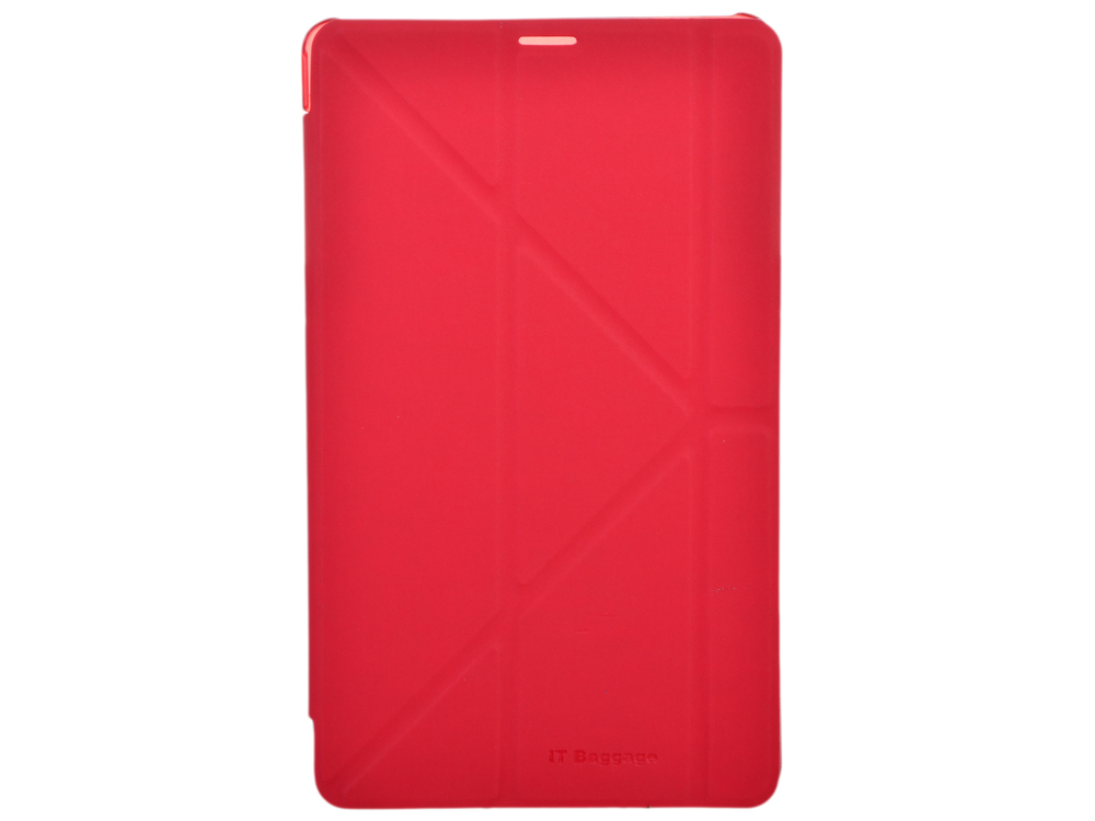 Чехол IT BAGGAGE для планшета SAMSUNG Galaxy TabS 8.4 hard case искус. кожа красный с тонированной задней стенкой ITSSGTS841-3 чехол it baggage для планшета samsung galaxy tab4 8 hard case искусственная кожа красный itssgt4801 3