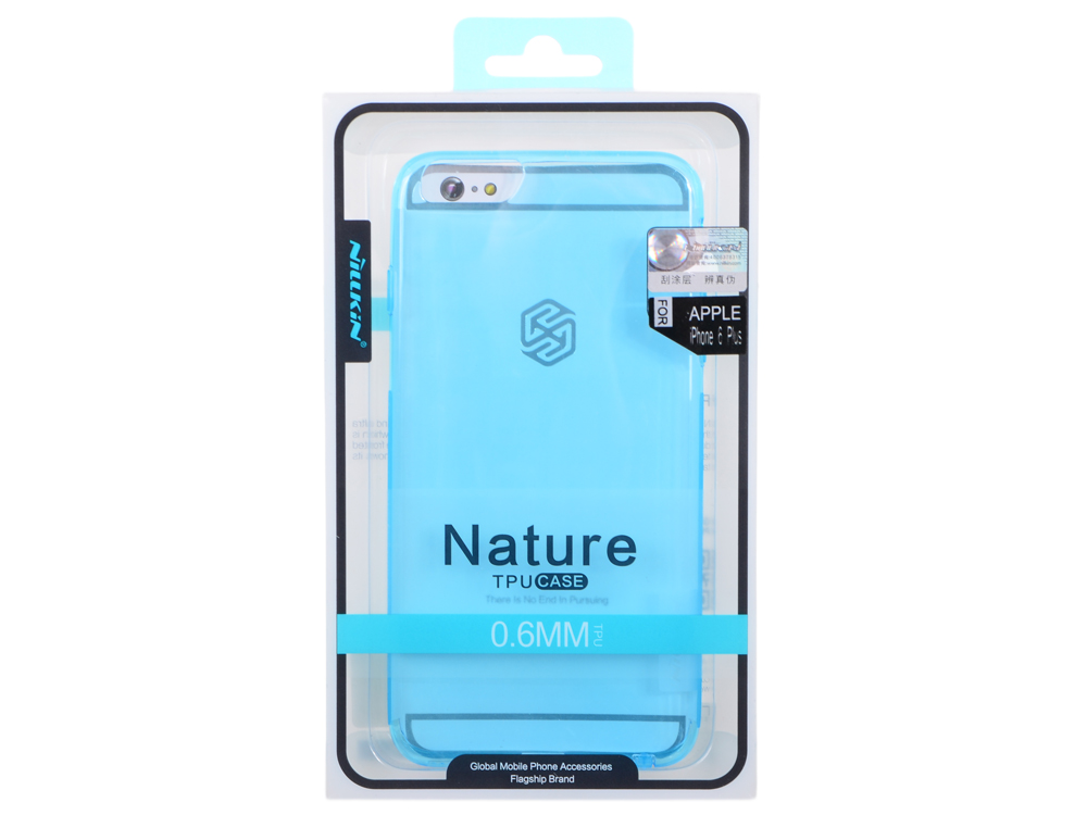 Накладка Nillkin Nature TPU case для Iphone 6 Plus (Цвет-синий), T-N-Iphone6P-018 nillkin hollow out ultra thin protective tpu back cover case for iphone 6 blue transparent
