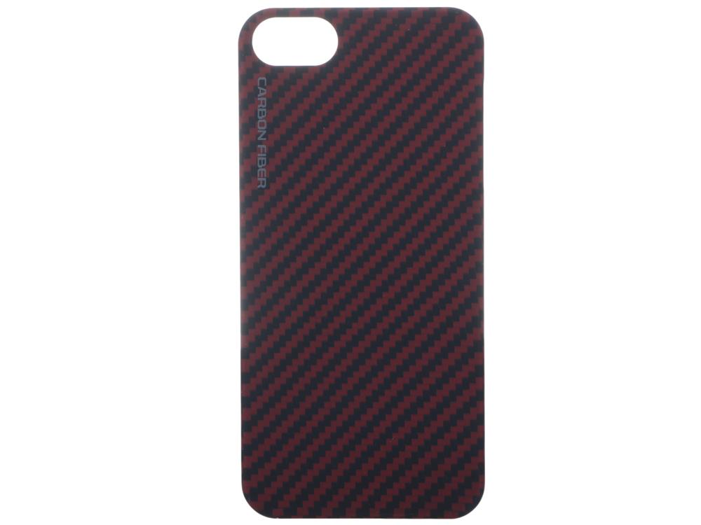 Чехол Gmini mCase Carbon Red MCI5C1, для iPhone 5/5S/SE, материал карбон