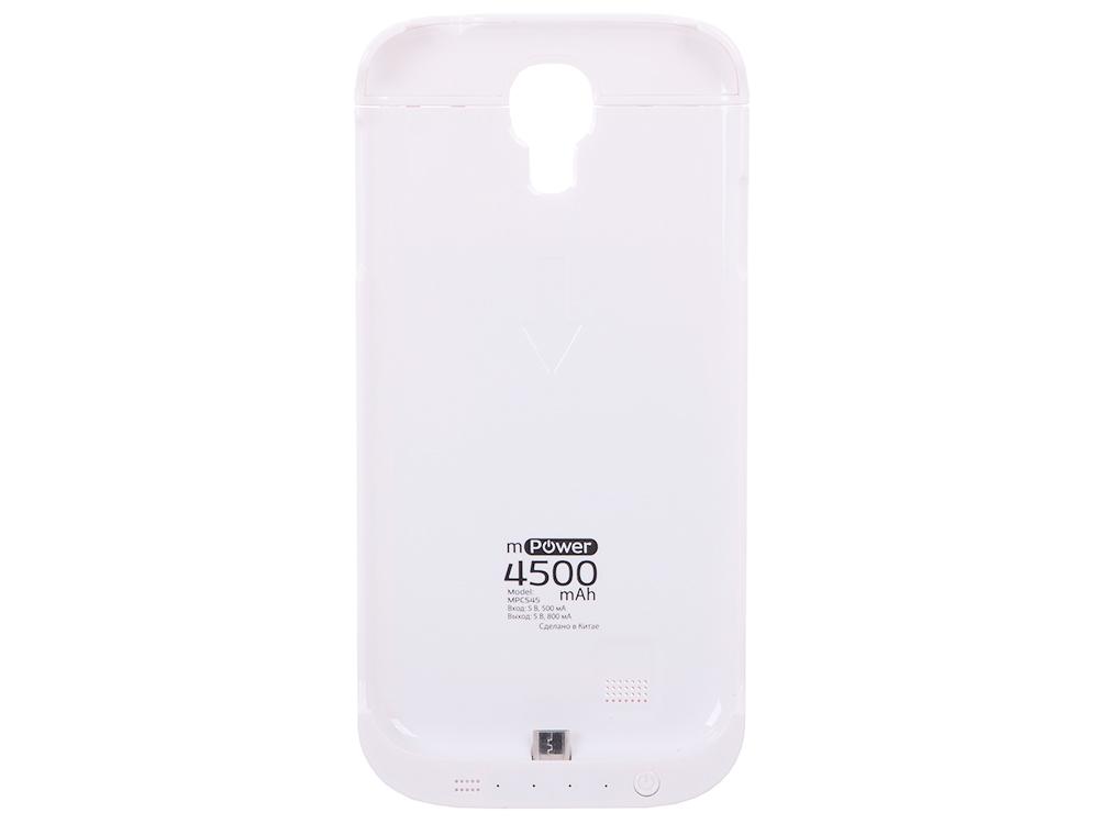 Чехол с аккумулятором Gmini mPower Case MPCS45 White, для Galaxy S4, 4500mAh