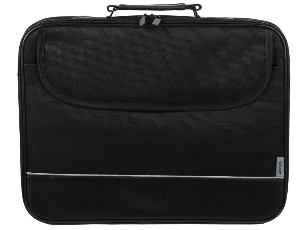 Сумка для ноутбука Defender Ascetic 15-16 черный, жесткий каркас, карман сумка для ноутбука 16 defender shiny синтетика полиэстер черный 26097