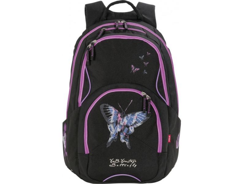 Рюкзак 4YOU Flow Бабочка 26 л черный 141000-726 рюкзак детский 4you 4you рюкзак flow дикие девчонки