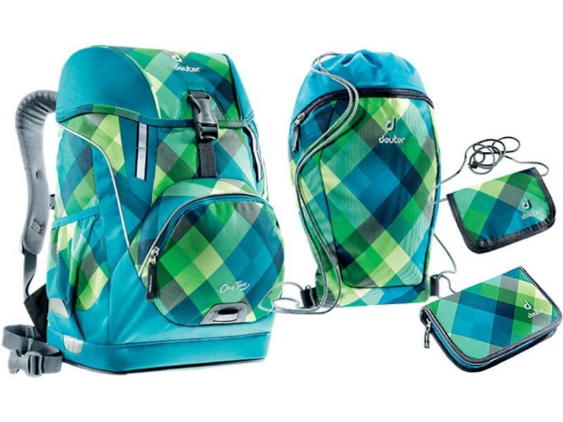 Школьный рюкзак ортопедический Deuter OneTwo + сумка для сменной обуви, пенал  кошелек 20  синий