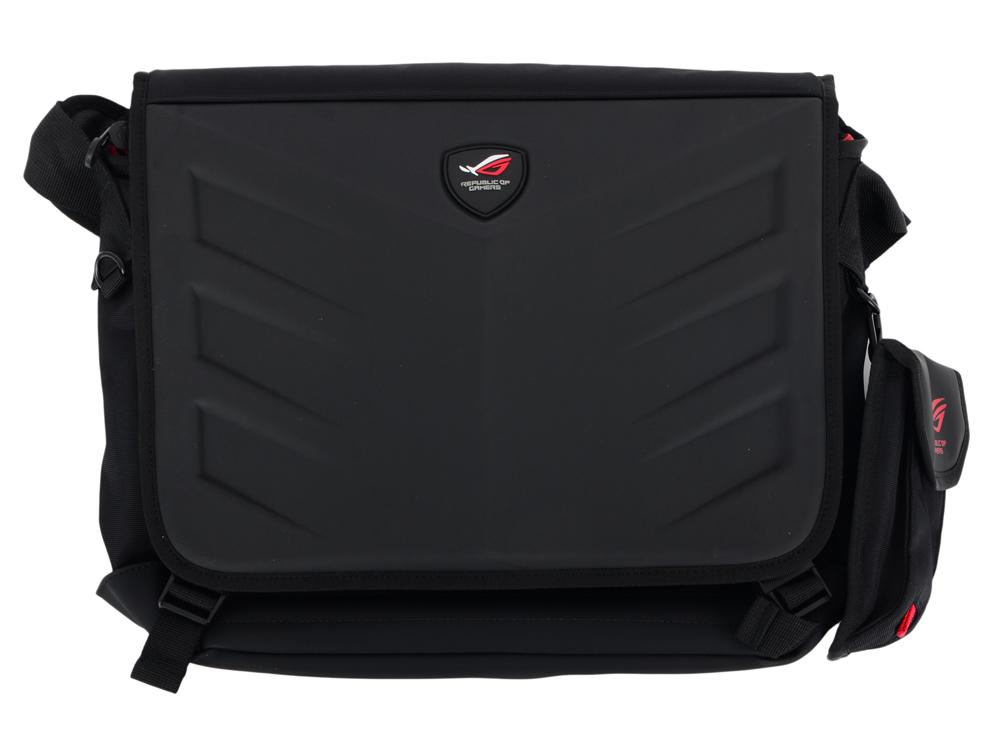 Сумка для ноутбука ROG RANGER MESSENGER//15 INCH/2 IN 1/BK рюкзак для ноутбука 17 asus rog ranger
