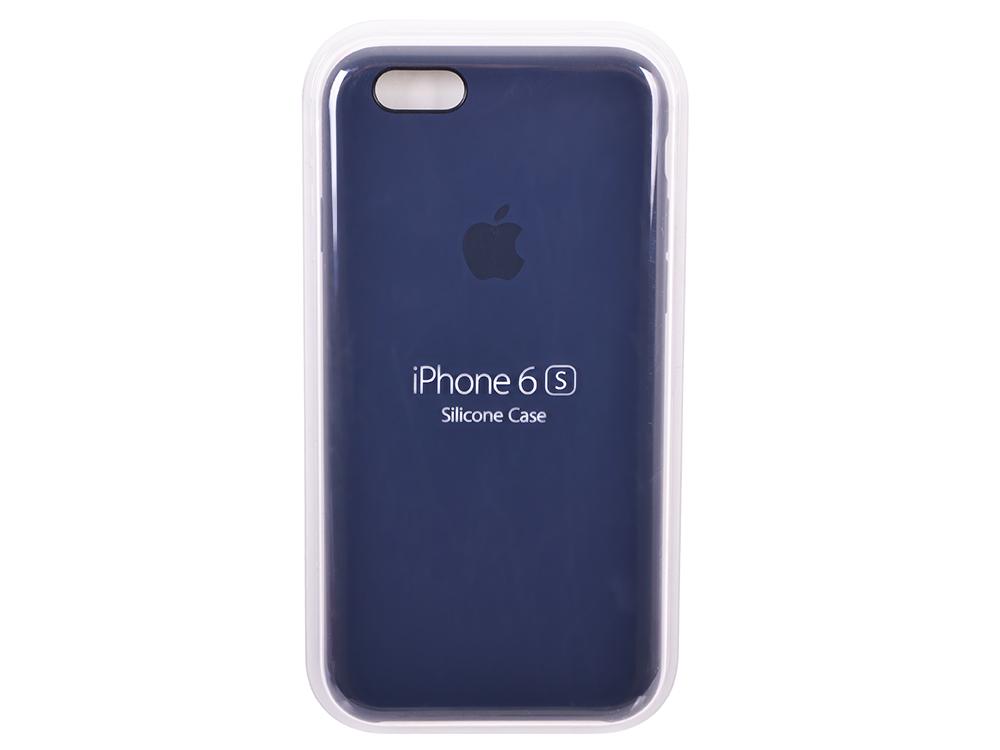Чехол - обложка iPhone 6s Silicone Case Midnight Blue аксессуар чехол apple iphone 7 leather case midnight blue mmy32zm a