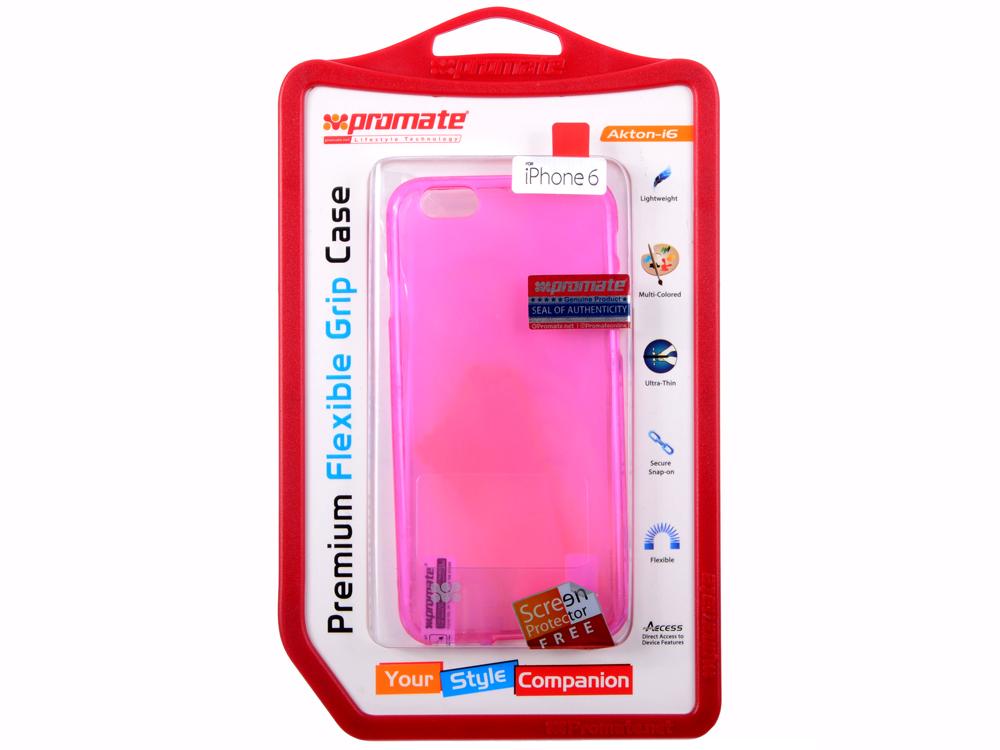 Накладка для iPhone 6 Promate Akton-i6 розовый