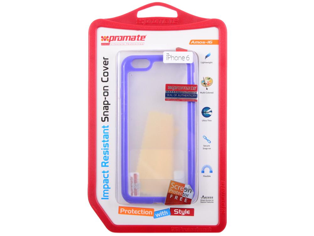 Накладка для iPhone 6 Promate Amos-i6 пурпурный