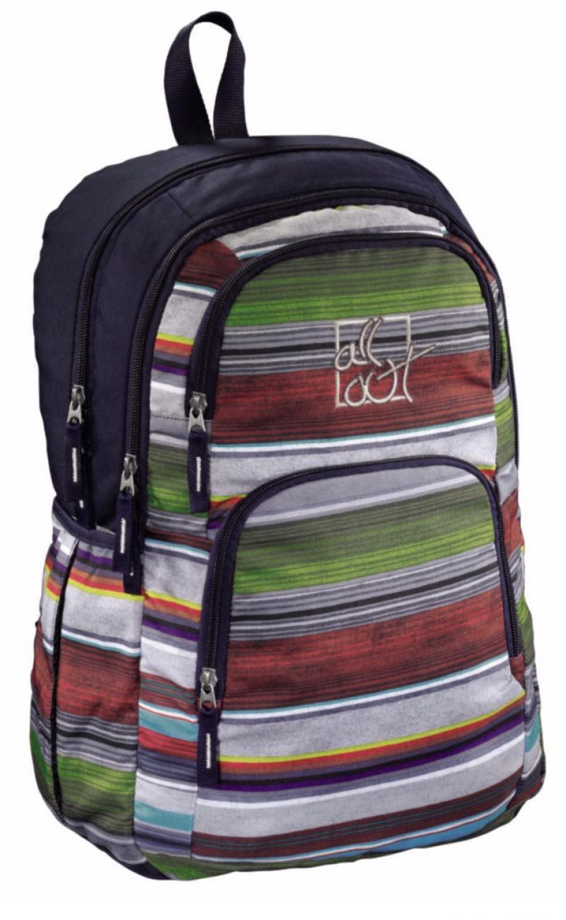 Рюкзак All Out Kilkenny Waterfall Stripes фиолетовый черный