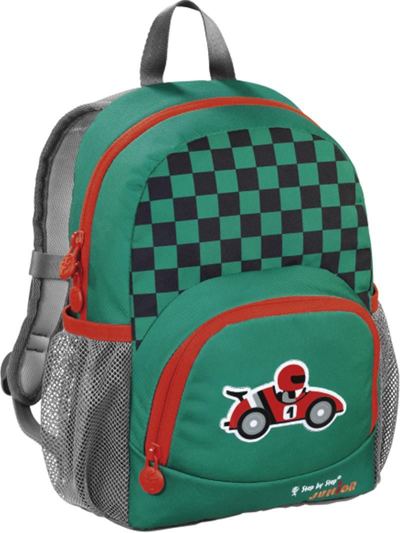 Рюкзак Step By Step Junior Dressy little racer зеленый серый 138410 рюкзак step by step junior dressy excavator blue yellow 129121
