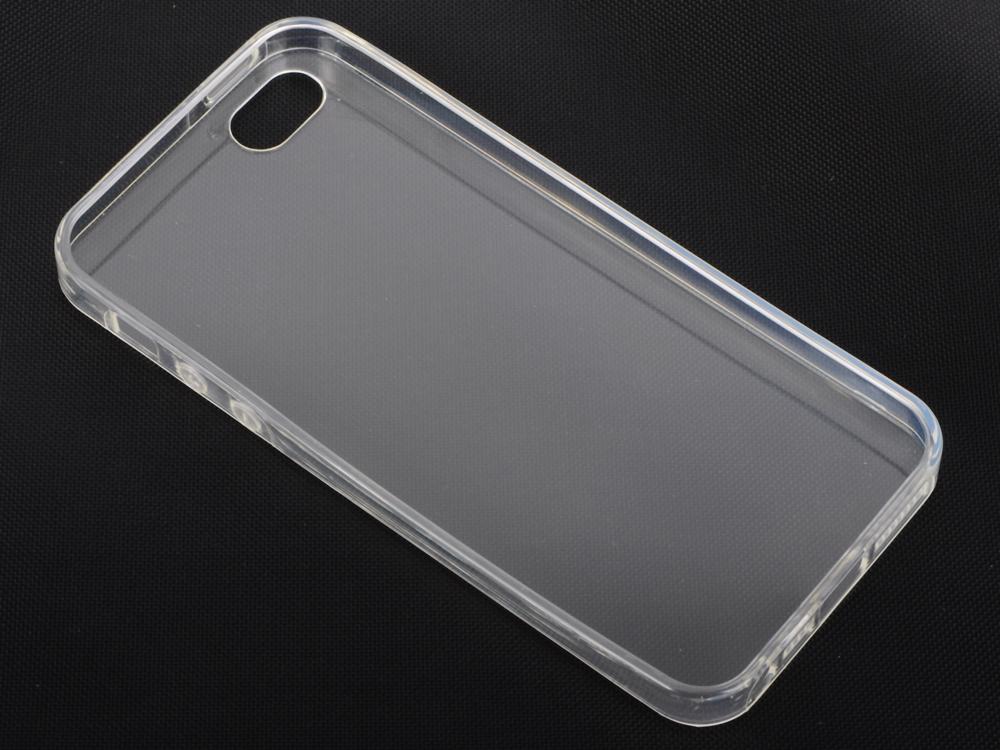 Чехол-накладка для iPhone 5/5S/SE DF iCase-04 клип-кейс, прозрачный полиуретан, супертонкий