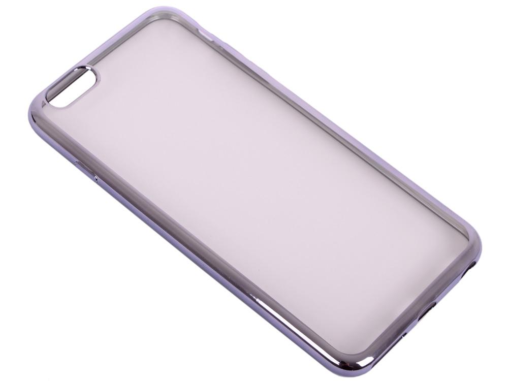 Силиконовый чехол с рамкой для iPhone 6 Plus/6S Plus DF iCase-03 (space gray)