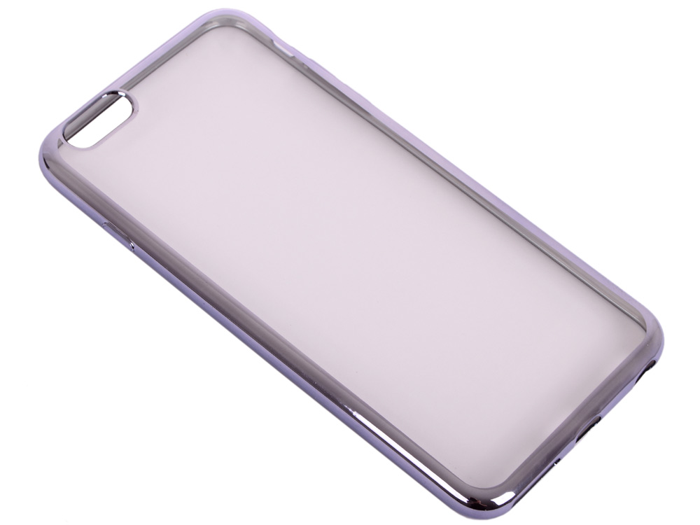 Силиконовый чехол с рамкой для iPhone 6 Plus/6S Plus DF iCase-03 (space gray) мфу epson l1455 c11cf49403