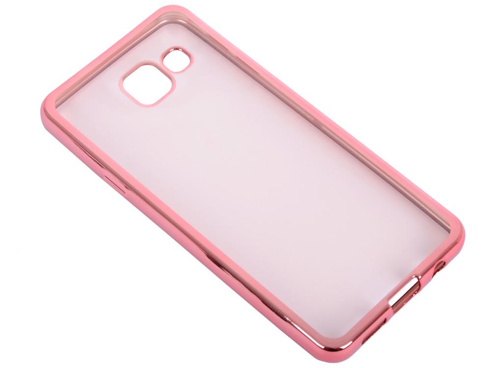 Силиконовый чехол с рамкой для Samsung Galaxy A3 (2016) DF sCase-22 (rose gold)