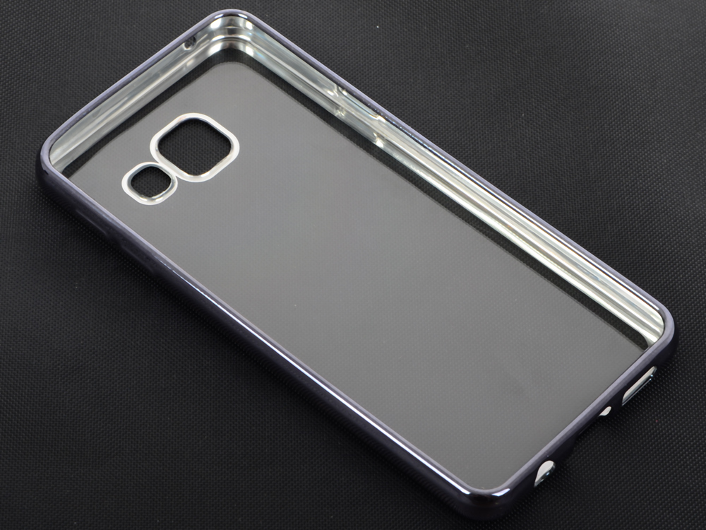 Силиконовый чехол с рамкой для Samsung Galaxy A3 (2016) DF sCase-22 (space gray) аксессуар чехол samsung galaxy a7 2016 df scase 24 rose gold