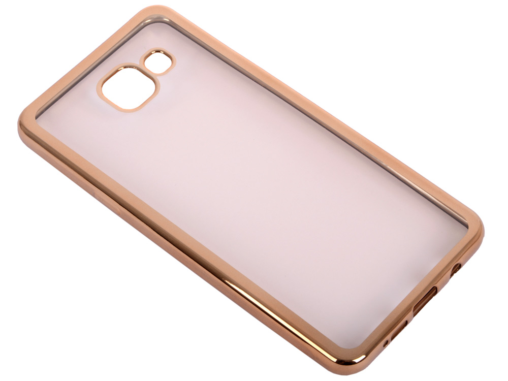 Силиконовый чехол с рамкой для Samsung Galaxy A5 (2016) DF sCase-23 (gold) силиконовый чехол с рамкой для samsung galaxy j2 prime grand prime 2016 df scase 36 black