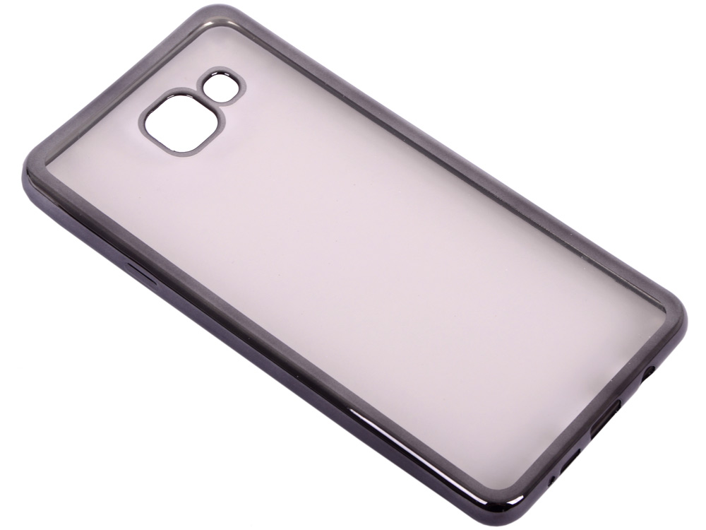 Силиконовый чехол с рамкой для Samsung Galaxy A7 (2016) DF sCase-24 (black) чехол силиконовый df scase 24 с рамкой для samsung galaxy a7 2016 серый