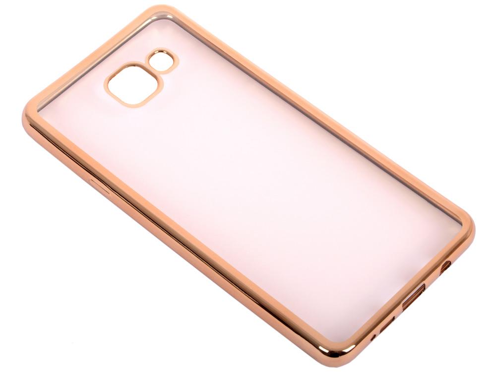 Силиконовый чехол с рамкой для Samsung Galaxy A7 (2016) DF sCase-24 (gold) чехол силиконовый df scase 24 с рамкой для samsung galaxy a7 2016 серый