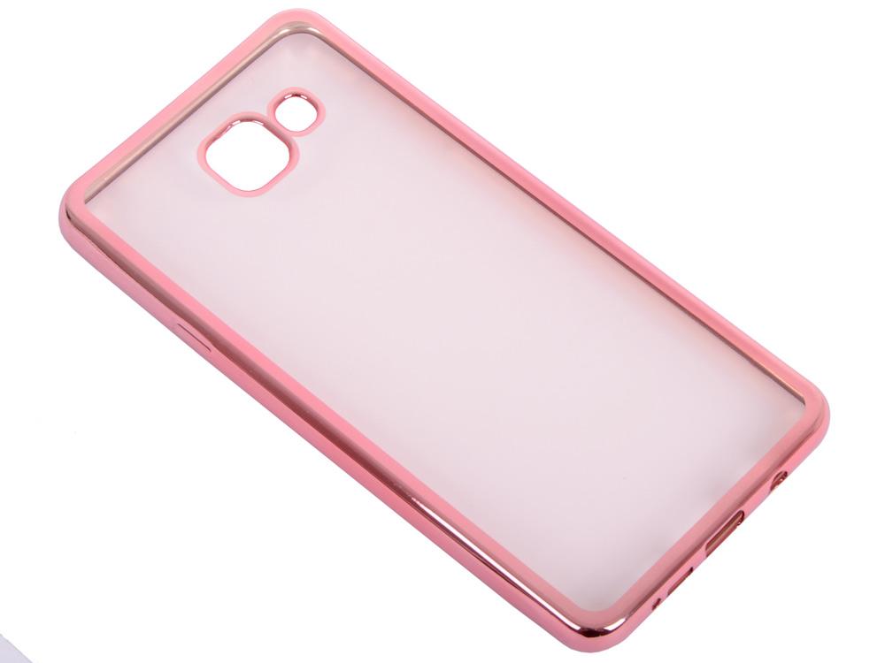 Силиконовый чехол с рамкой для Samsung Galaxy A7 (2016) DF sCase-24 (rose gold) силиконовый чехол с рамкой для samsung galaxy j2 prime grand prime 2016 df scase 36 gold