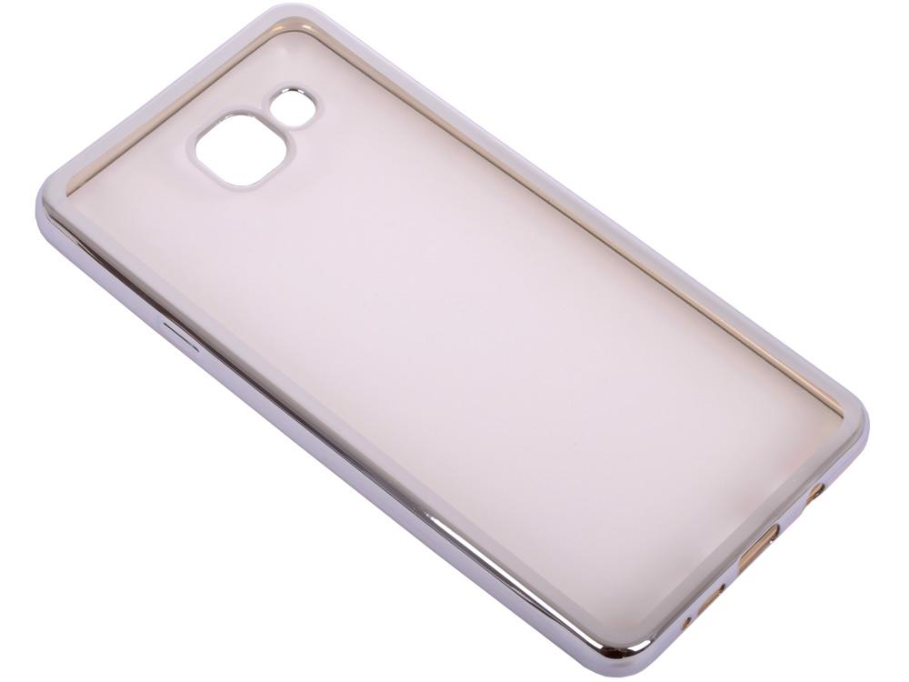 Силиконовый чехол с рамкой для Samsung Galaxy A7 (2016) DF sCase-24 (silver) аксессуар чехол samsung galaxy a7 2016 df scase 24 silver