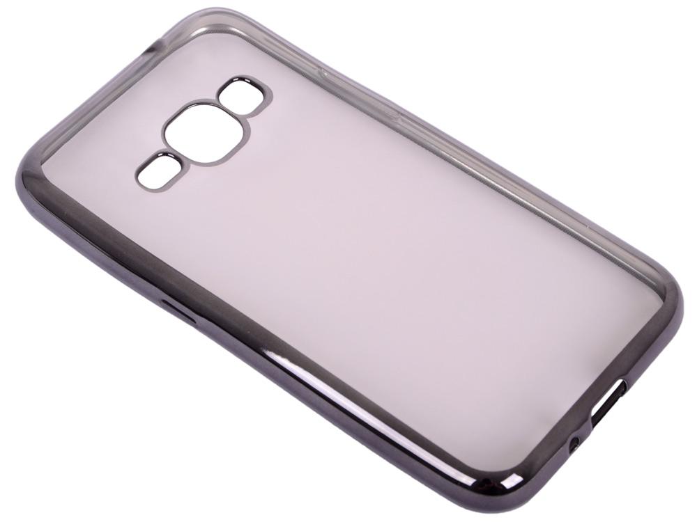 Силиконовый чехол с рамкой для Samsung Galaxy J1 (2016) DF sCase-27 (black) силиконовый чехол с рамкой для samsung galaxy j2 prime grand prime 2016 df scase 36 gold