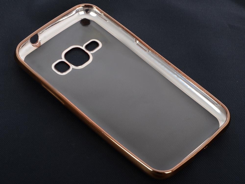 Силиконовый чехол с рамкой для Samsung Galaxy J1 (2016) DF sCase-27 (gold) аксессуар чехол samsung galaxy j1 2016 df scase 27 rose gold