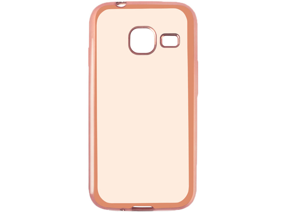 Силиконовый чехол с рамкой для Samsung Galaxy J1 mini (2016) DF sCase-26 (rose gold) силиконовый чехол с рамкой для samsung galaxy j2 prime grand prime 2016 df scase 36 gold