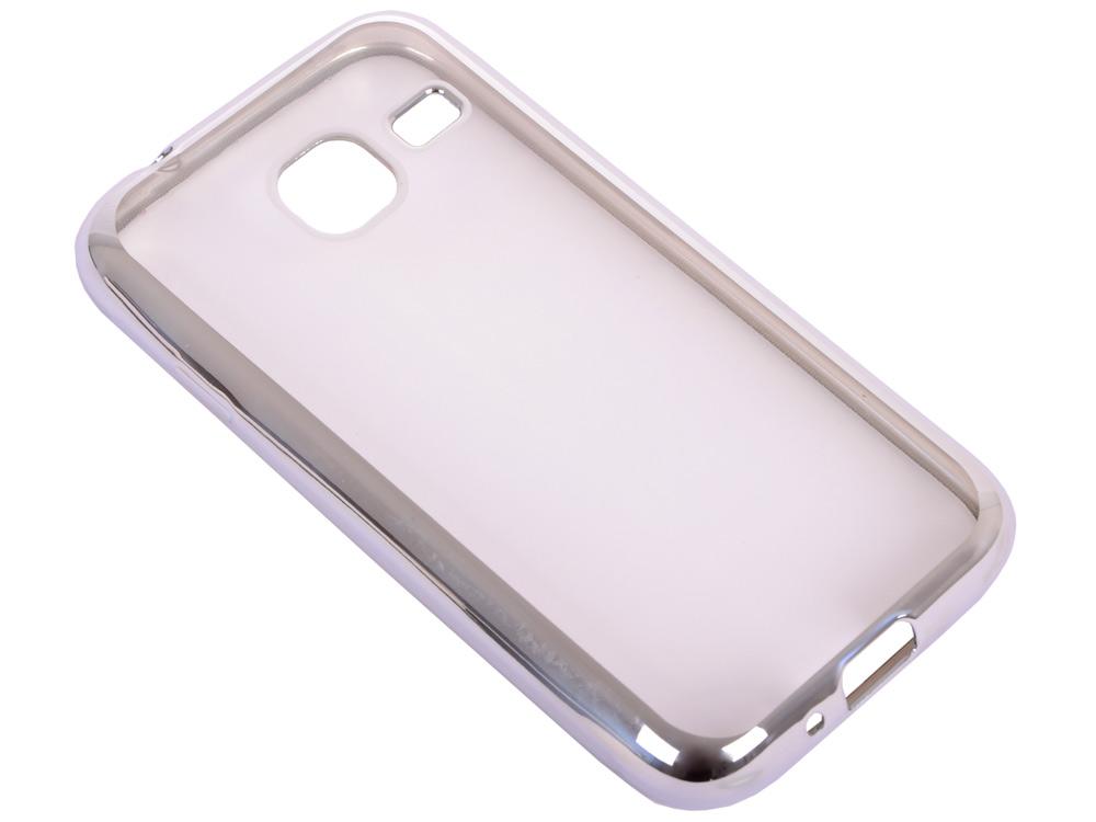 Силиконовый чехол с рамкой для Samsung Galaxy J1 mini (2016) DF sCase-26 (silver) силиконовый чехол с рамкой для samsung galaxy j2 prime grand prime 2016 df scase 36 black