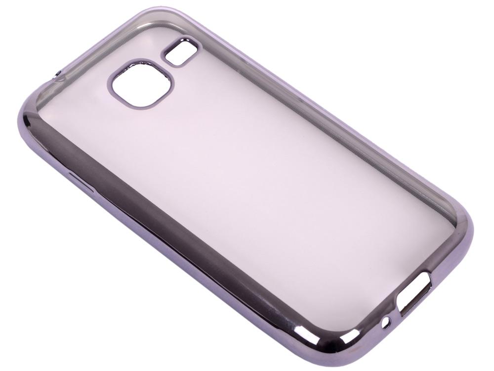 Силиконовый чехол с рамкой для Samsung Galaxy J1 mini (2016) DF sCase-26 (space gray) аксессуар чехол samsung galaxy a7 2016 df scase 24 rose gold
